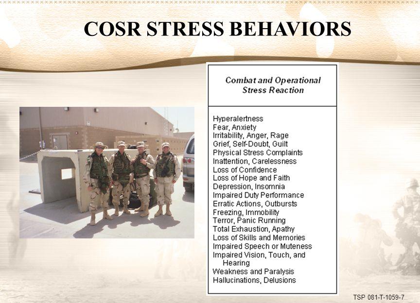 TSP 081-T-1059-8 PTSD STRESS BEHAVIORS