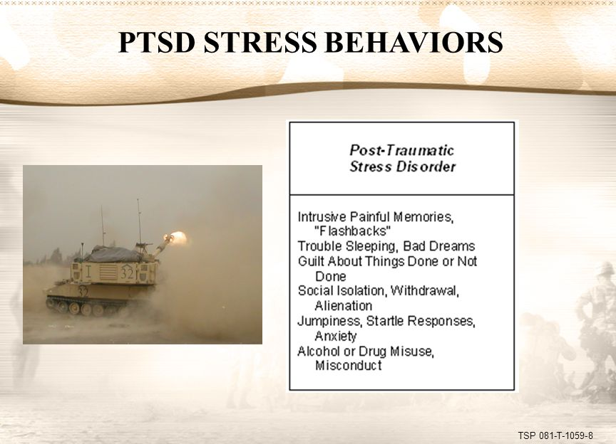 TSP 081-T-1059-8 PTSD STRESS BEHAVIORS