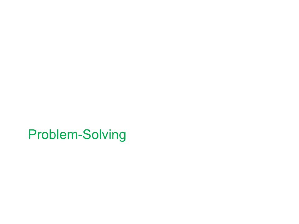 Stages of Problem-solving 1.Define the problems 2.Brainstorm possible solutions 3.Evaluate the possibilities 4.Select a solution 5.Plan the solution 6.Implement the plan