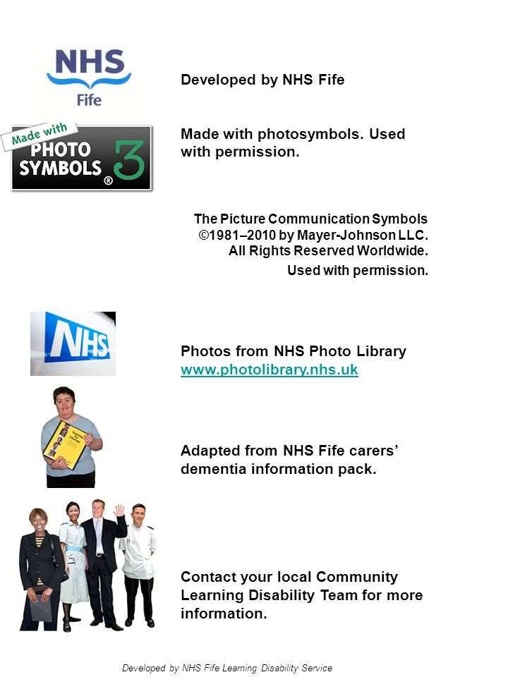 Developed by NHS Fife Made with photosymbols. Used with permission.