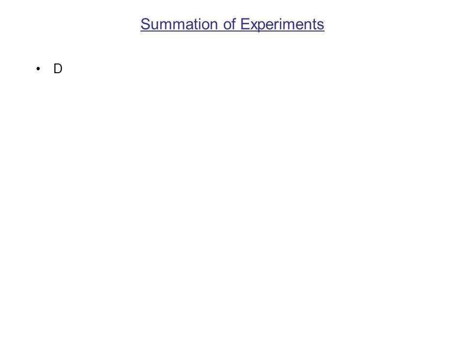 Summation of Experiments D