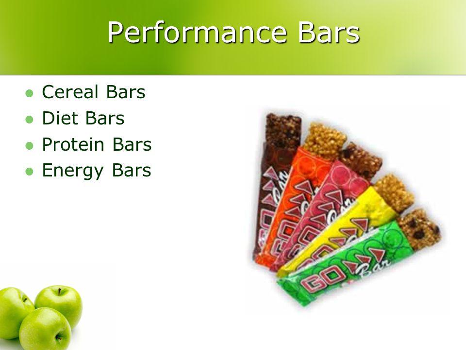 Performance Bars Cereal Bars Diet Bars Protein Bars Energy Bars