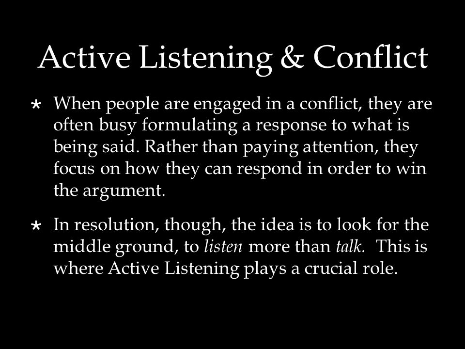 Reflecting Content  Reflecting Content is repeating what the other person says in your own words.