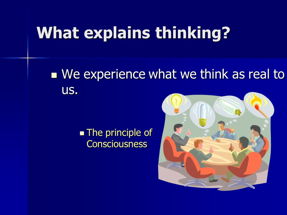 What explains thinking.