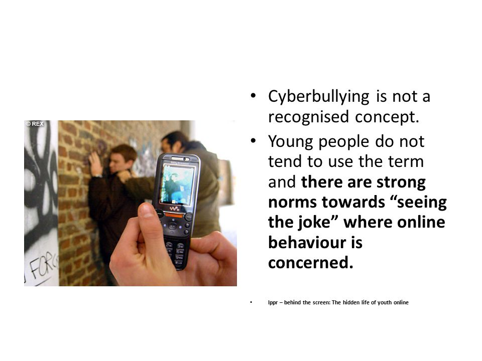 Cyberbullying is not a recognised concept.