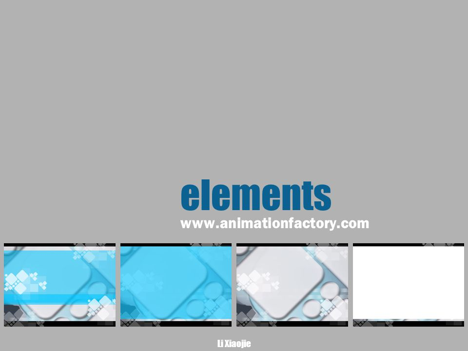 Li Xiaojie elements www.animationfactory.com
