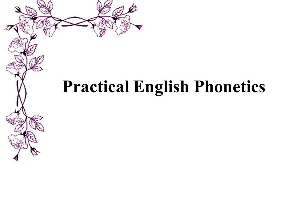 Practical English Phonetics