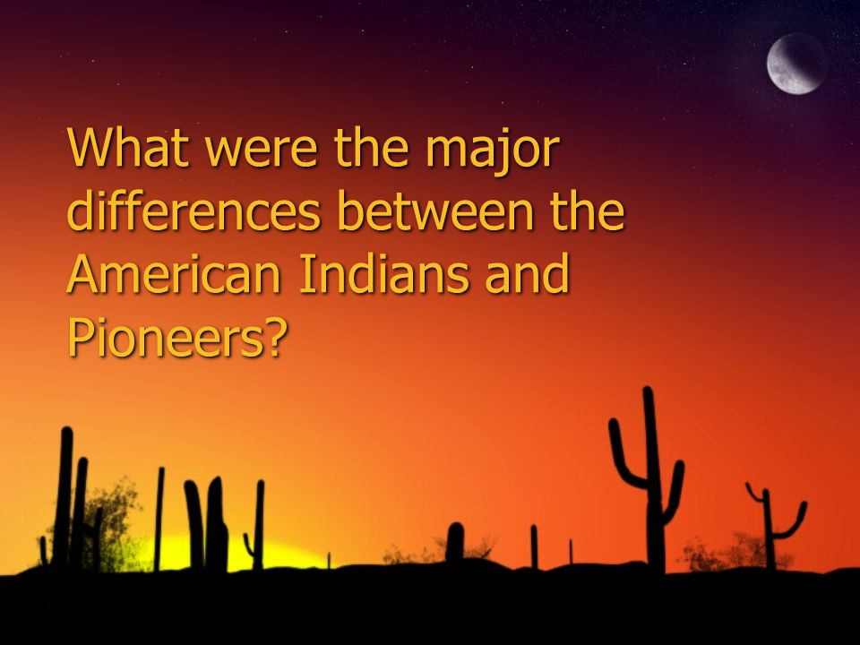 What were the major differences between the American Indians and Pioneers