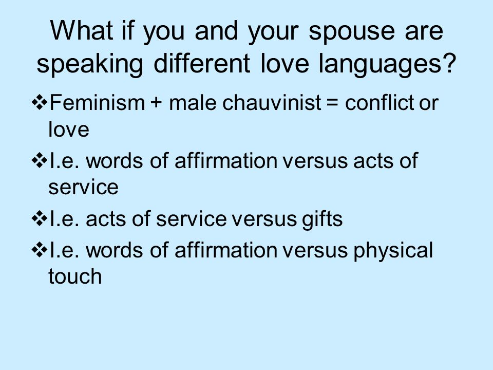 What is your spouse's primary love language(s). Take the quiz.