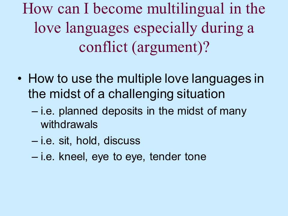 How can I become multilingual in the love languages.