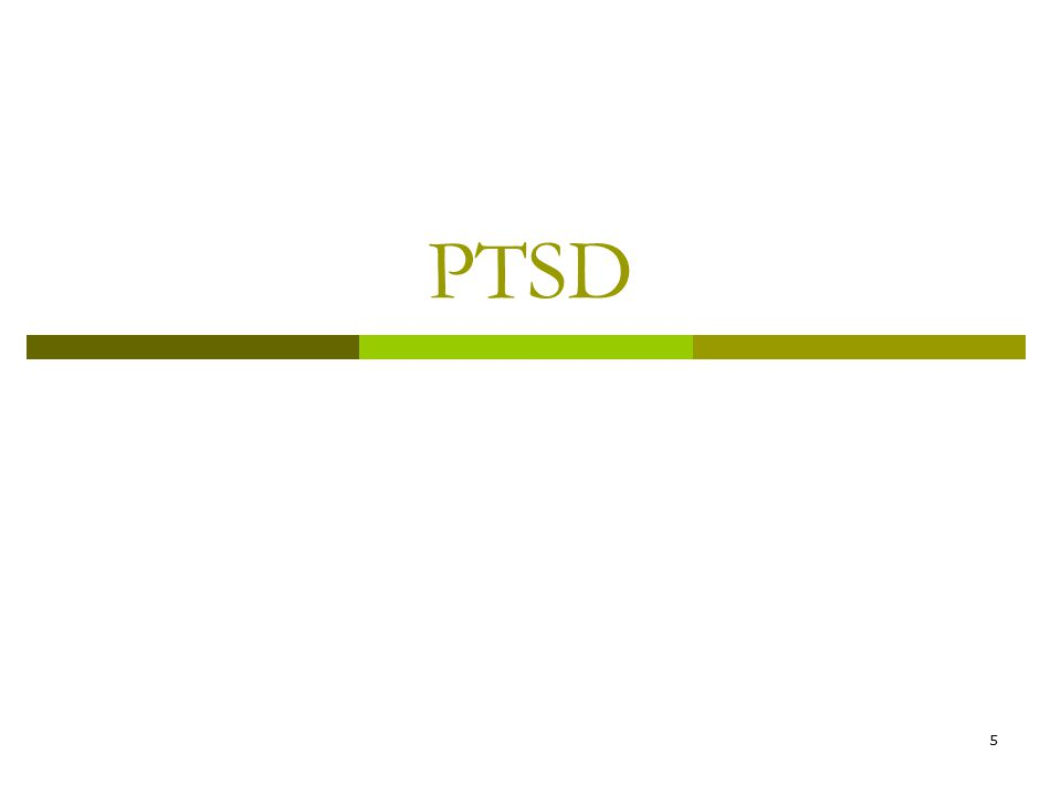6 PTSD Diagnostic Concept  Traumatic experience  Threat of death/serious injury  Intense fear, helplessness or horror  Symptoms  Reexperiencing the trauma  Numbing & avoidance  Physiologic arousal  Impaired functioning  Persistence