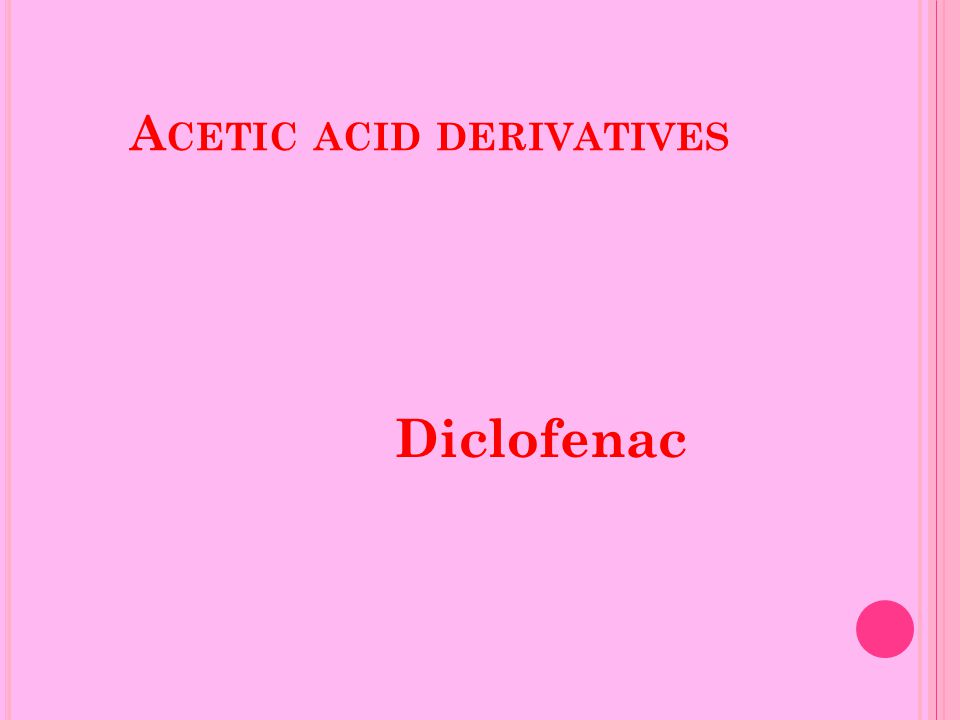 A CETIC ACID DERIVATIVES Diclofenac