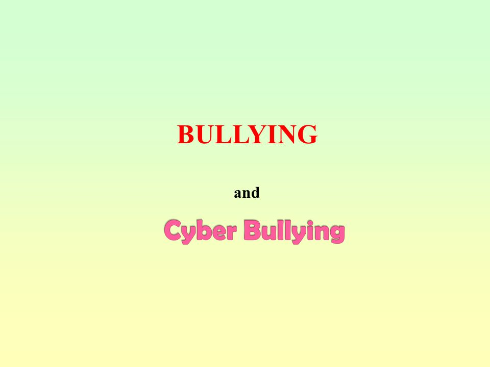 BULLYING and