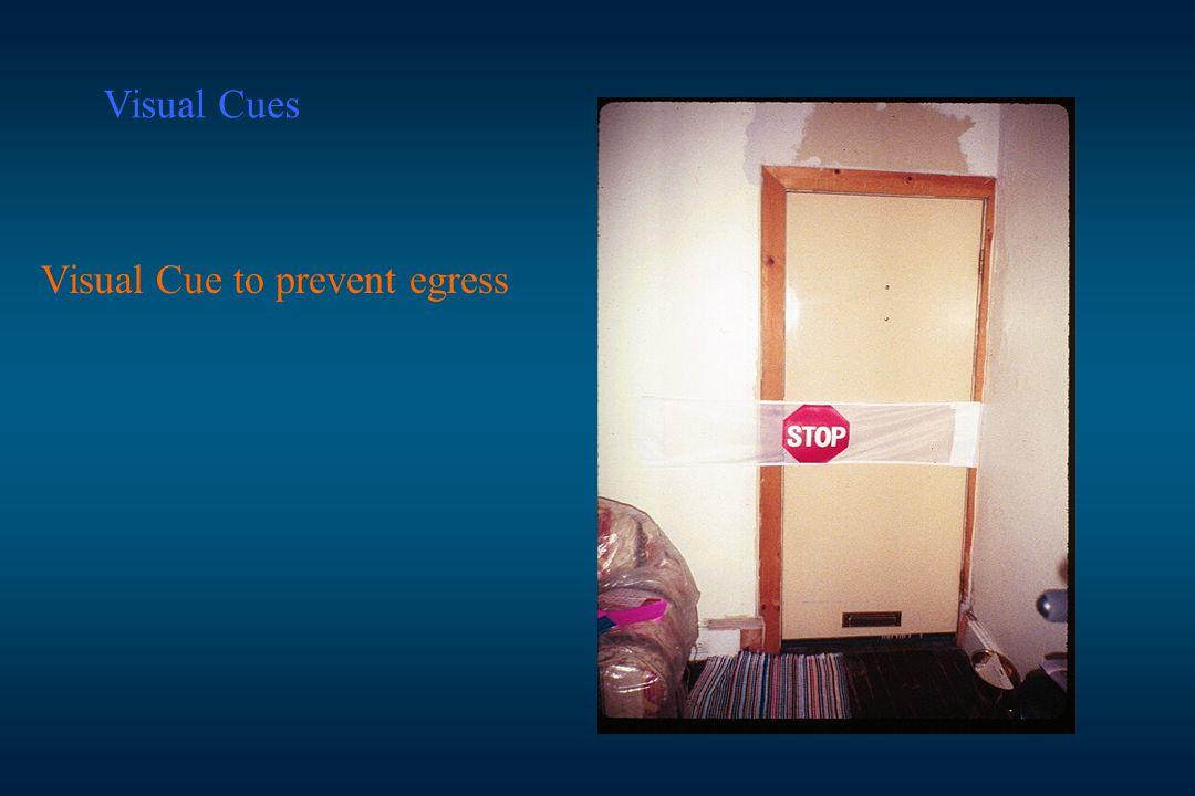 Visual Cue to prevent egress