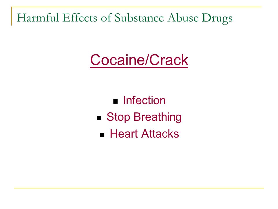 Notes COCAINE Addictive stimulant affecting the brain From coca leaves Powder form 2 forms, hydrochloride salt used as an injection & free base is smoked because it is a powder form.