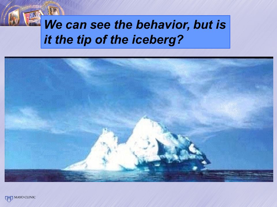 We can see the behavior, but is it the tip of the iceberg?