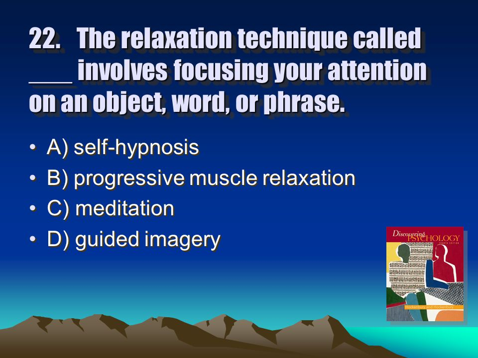 21.The authors of your textbook suggest all of the following as ways of minimizing the negative effects of stress except: A) getting enough sleep.