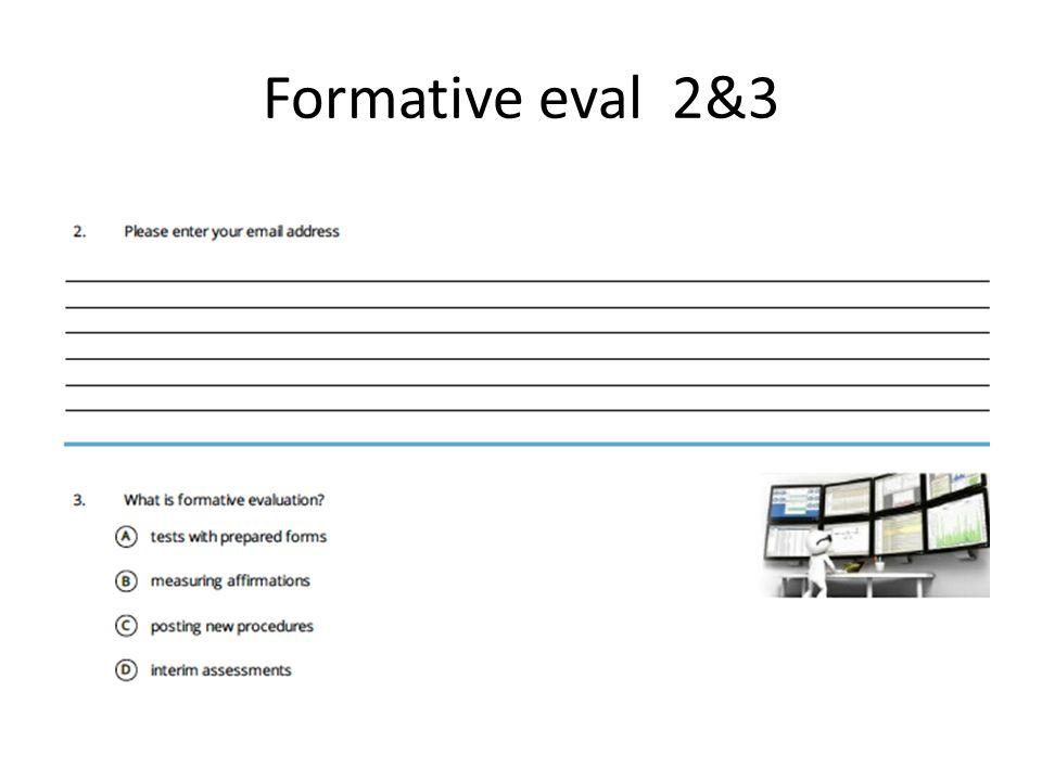 Formative eval 2&3