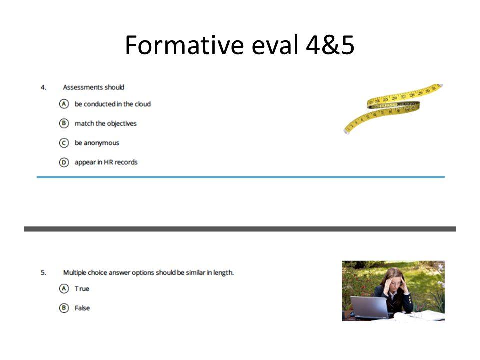 Formative eval 4&5