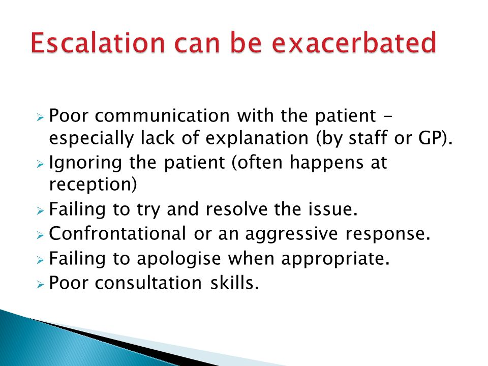  Poor communication with the patient - especially lack of explanation (by staff or GP).