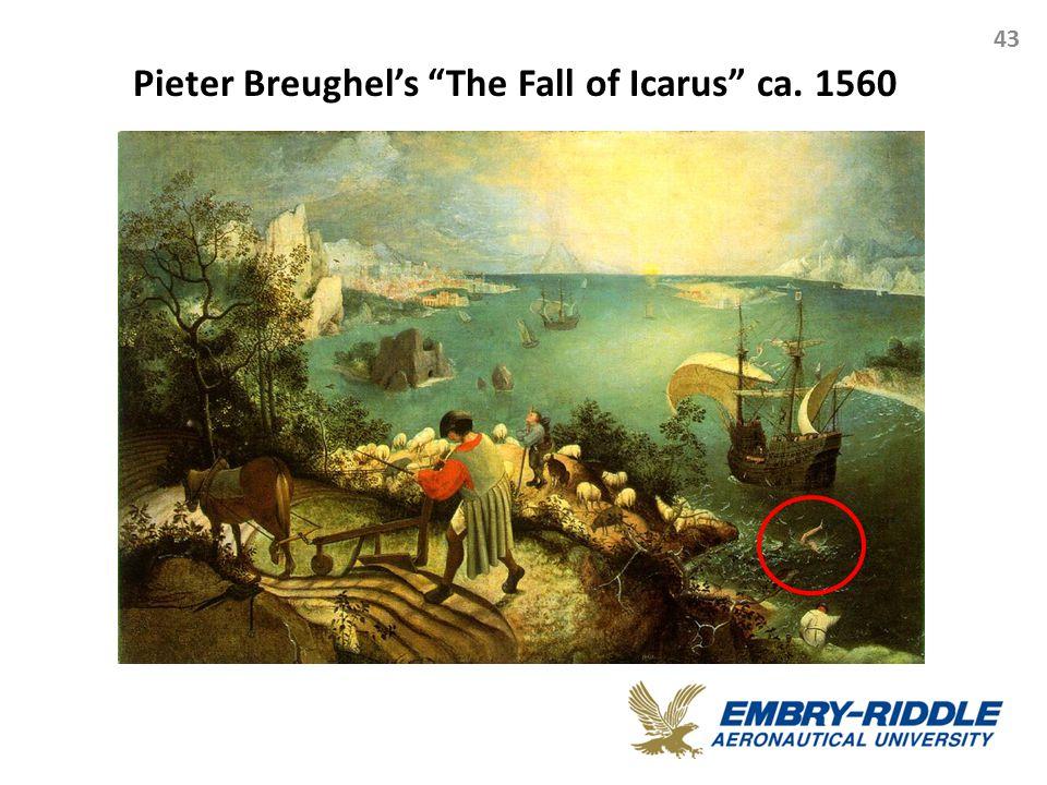 Pieter Breughel's The Fall of Icarus ca. 1560 43