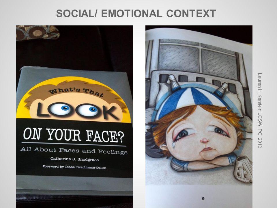 SOCIAL/ EMOTIONAL CONTEXT Lauren H. Kerstein LCSW, PC 2013