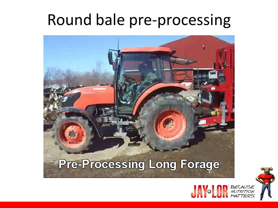Round bale pre-processing