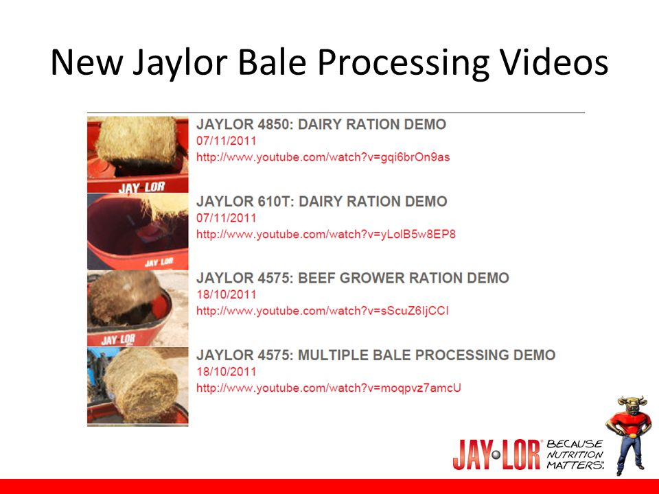 New Jaylor Bale Processing Videos