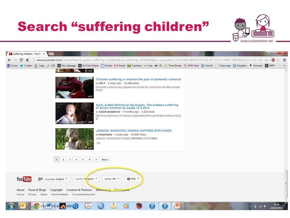 Search suffering children