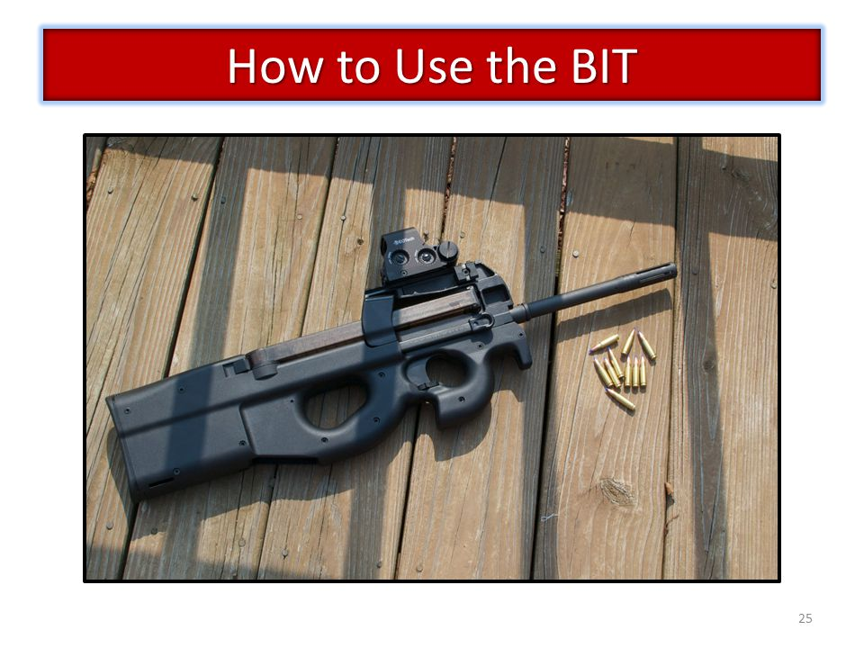 25 How to Use the BIT