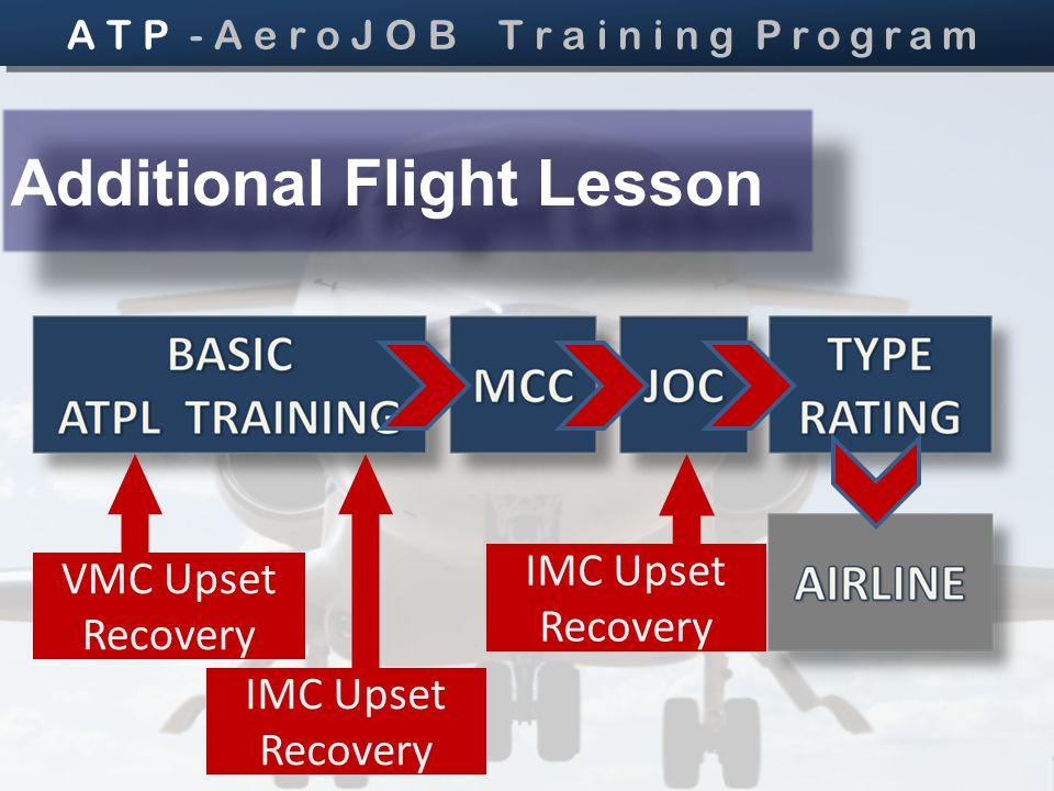 VMC Upset Recovery IMC Upset Recovery Additional Flight Lesson A T P - A e r o J O B T r a i n i n g Program