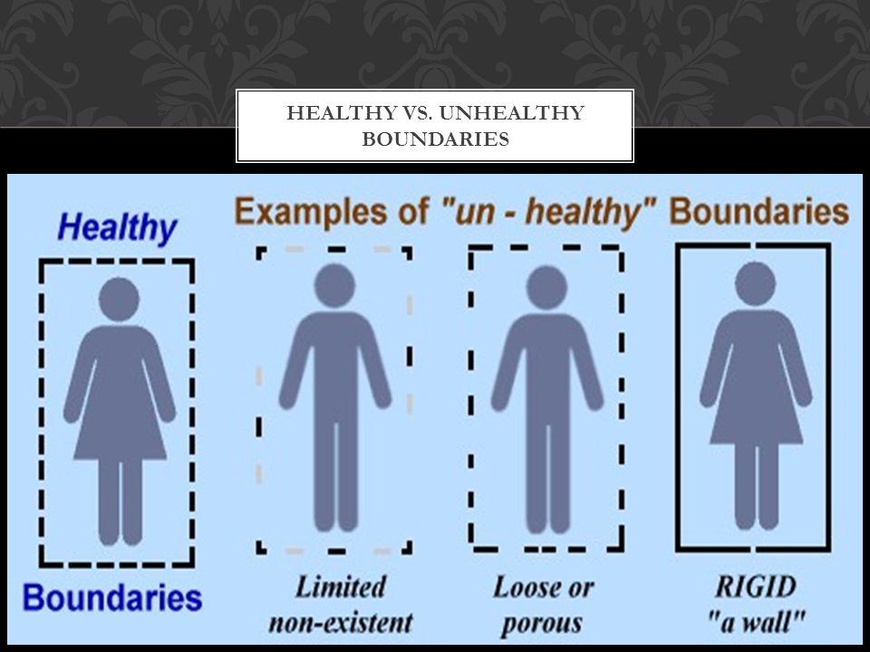 HEALTHY VS. UNHEALTHY BOUNDARIES