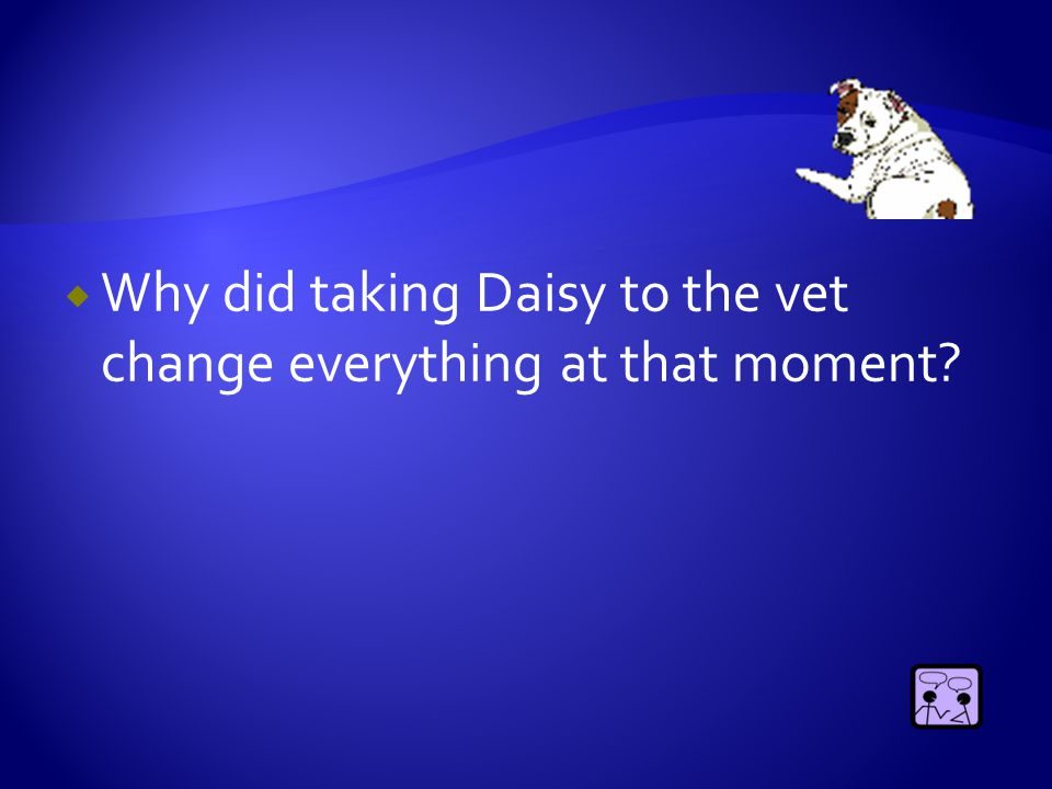  Why did taking Daisy to the vet change everything at that moment?