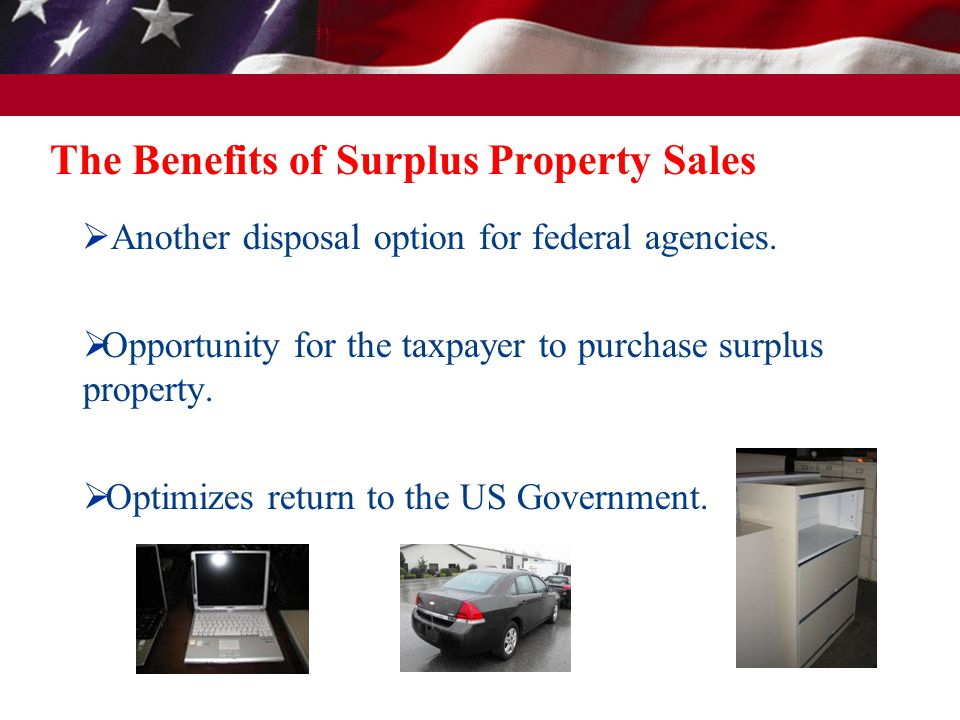 Regulations that govern the sale of Surplus Property  Surplus Property FMR Part 102-38 - Sale of Personal Property  Exchange/Sale Property FMR Part 102-39 - Replacement of Personal Property Pursuant to the Exchange/sale Authority