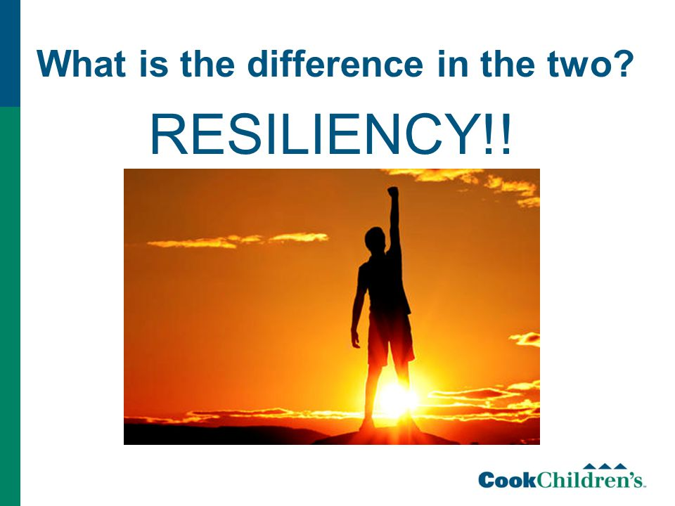 What is the difference in the two RESILIENCY!!