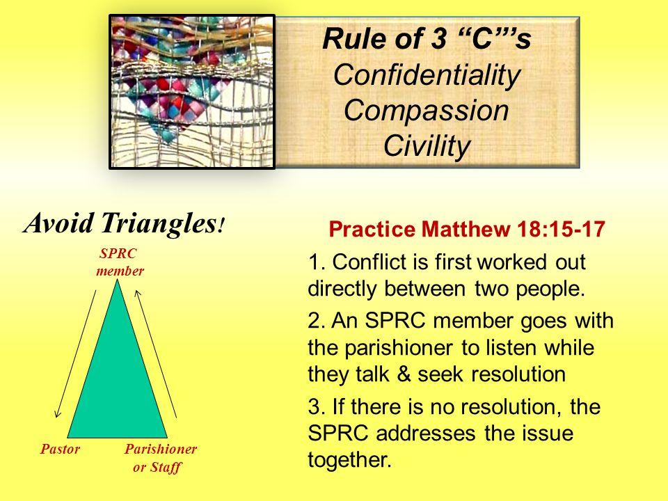 SPRC Basics: HANDLING CONFLICT