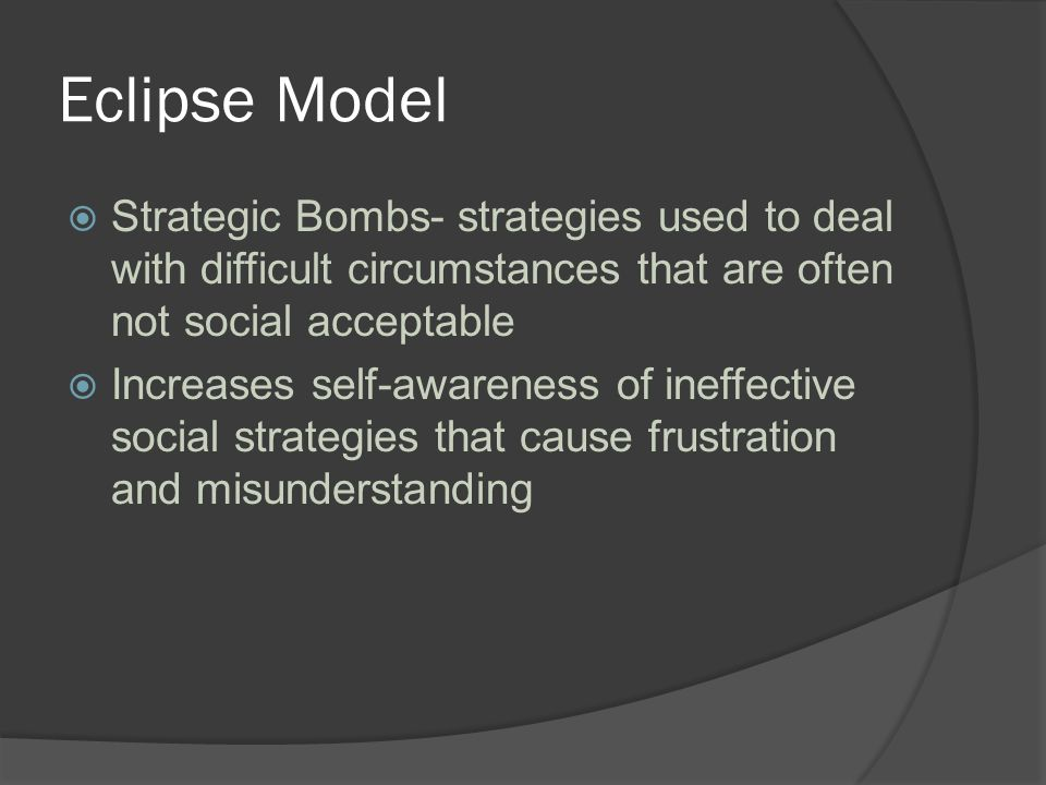 Strategic Bombs SMART CARD In the event that all other conversational strategies fail during stressful interactions you are allowed to top all other statements by declaring your unequaled giftedness and natural superiority PERSERVATION STATION At the absolute worst moment when you are desperate for ideas and want to do the right thing your brain completely freezes and you have no choice but to insist that you are right or refuse to move on to the next activity.