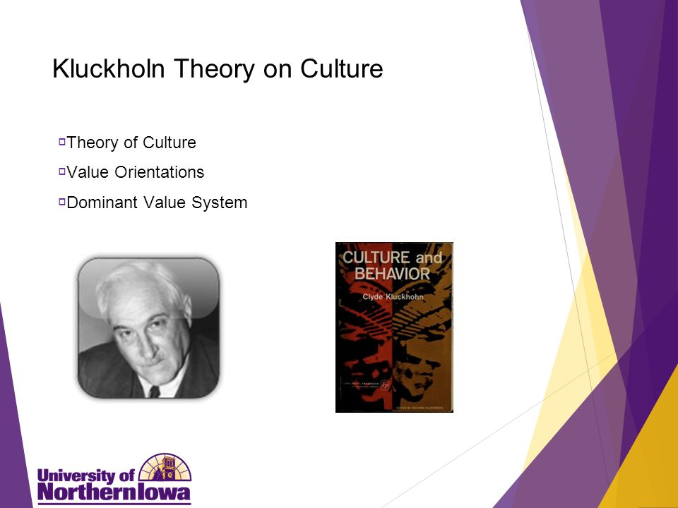 Kluckholn Theory on Culture  Theory of Culture  Value Orientations  Dominant Value System
