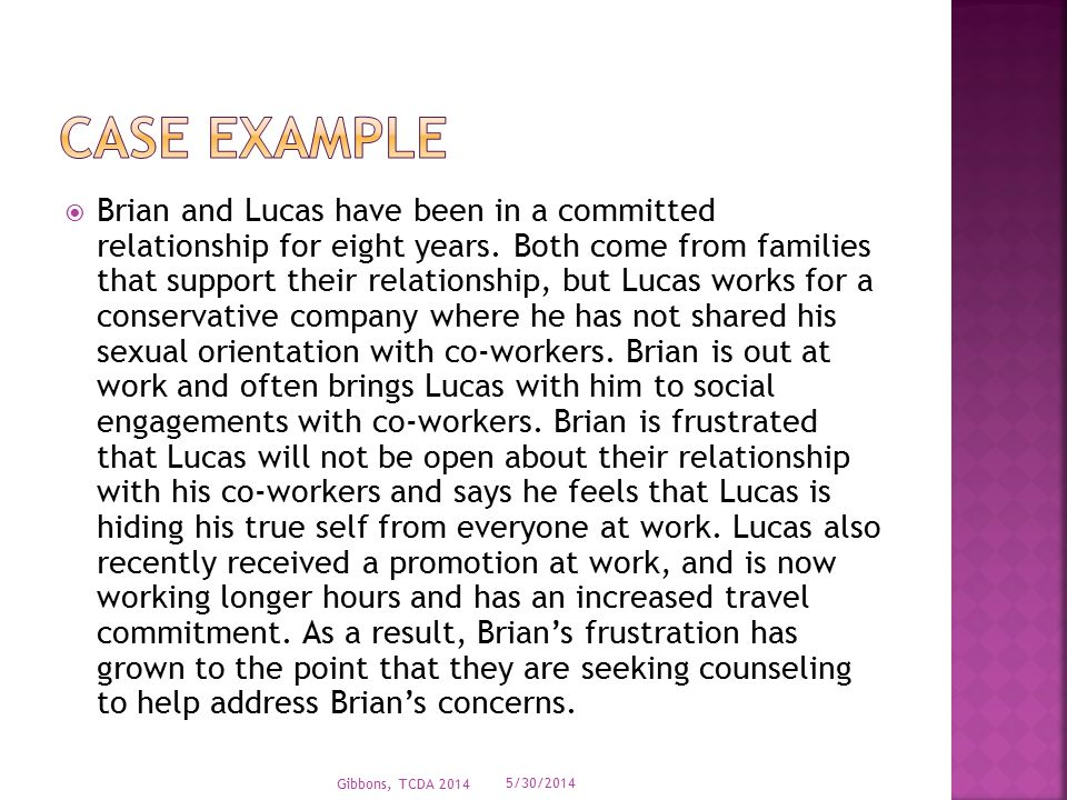  Brian and Lucas have been in a committed relationship for eight years.