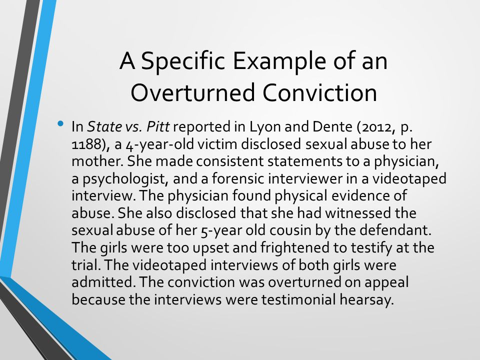 Impact of the Crawford Decision The Crawford decision has made it difficult to prosecute cases in which the child witness initially reported the crime to a state representative but later is too afraid, intimidated, or traumatized to testify (Lyons & Dente, 2012, p.