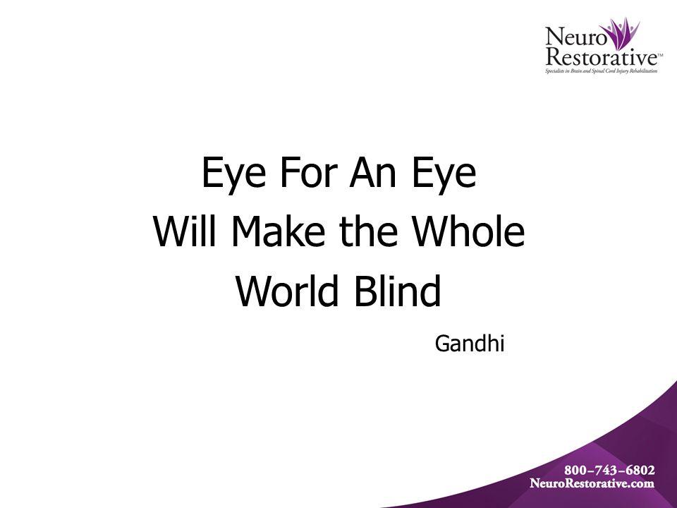 Eye For An Eye Will Make the Whole World Blind Gandhi