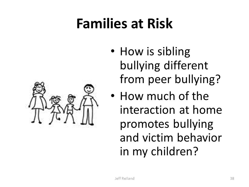 Families at Risk How is sibling bullying different from peer bullying.