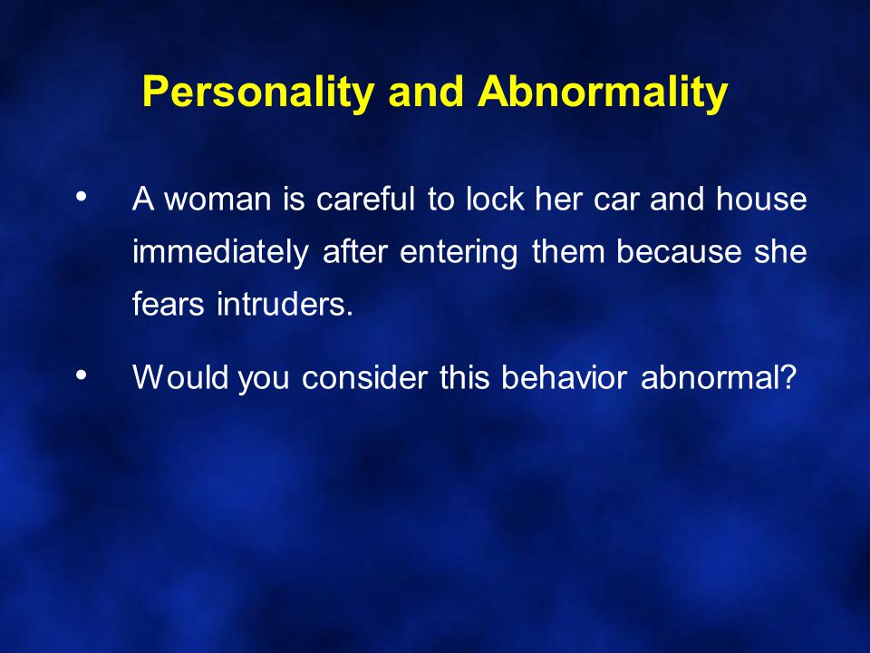 Personality and Abnormality A car salesman lies to people to manipulate them into buying a car, and feels no guilt about making an unethical sale.