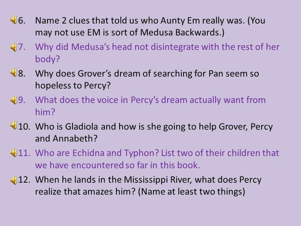 6.Name 2 clues that told us who Aunty Em really was.
