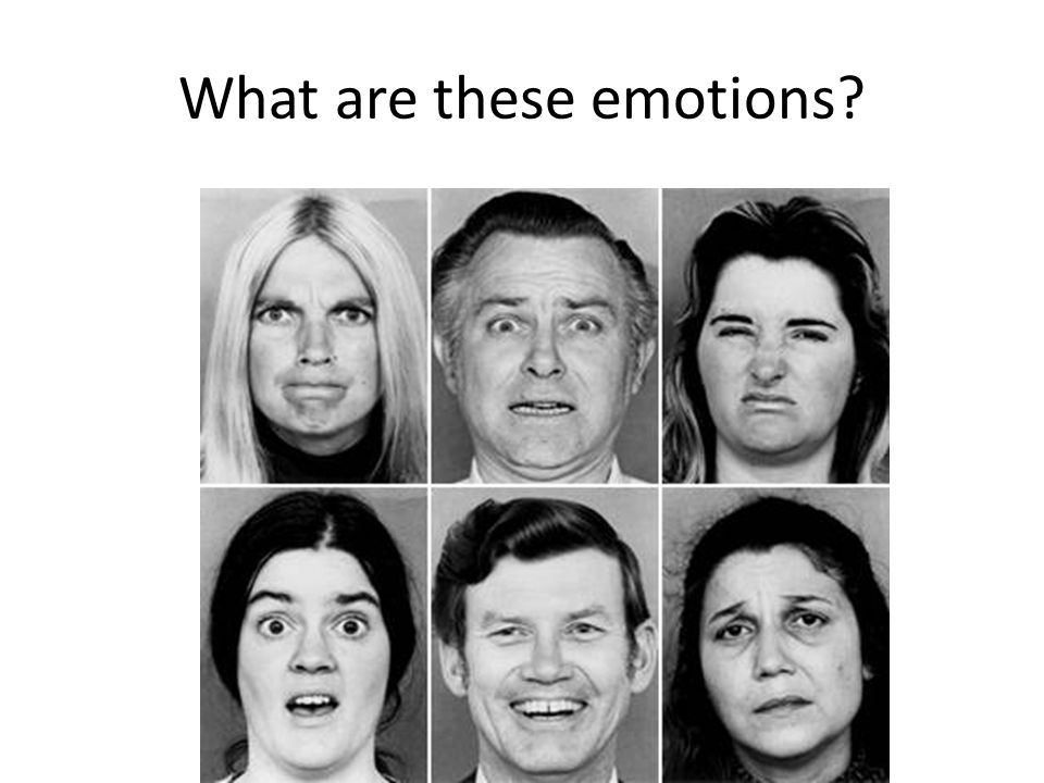 Russell (2001) Conceptualization of what emotions mean differ across cultures – In Luganda, anger and sadness are denoted by the same word and it is difficult for researchers to explain the difference – Experiences that cause anger in USA lead to crying among Buganda people (Leff, 1973) – Brazilians cry when they are angry (personal communication, Ryan Baker)