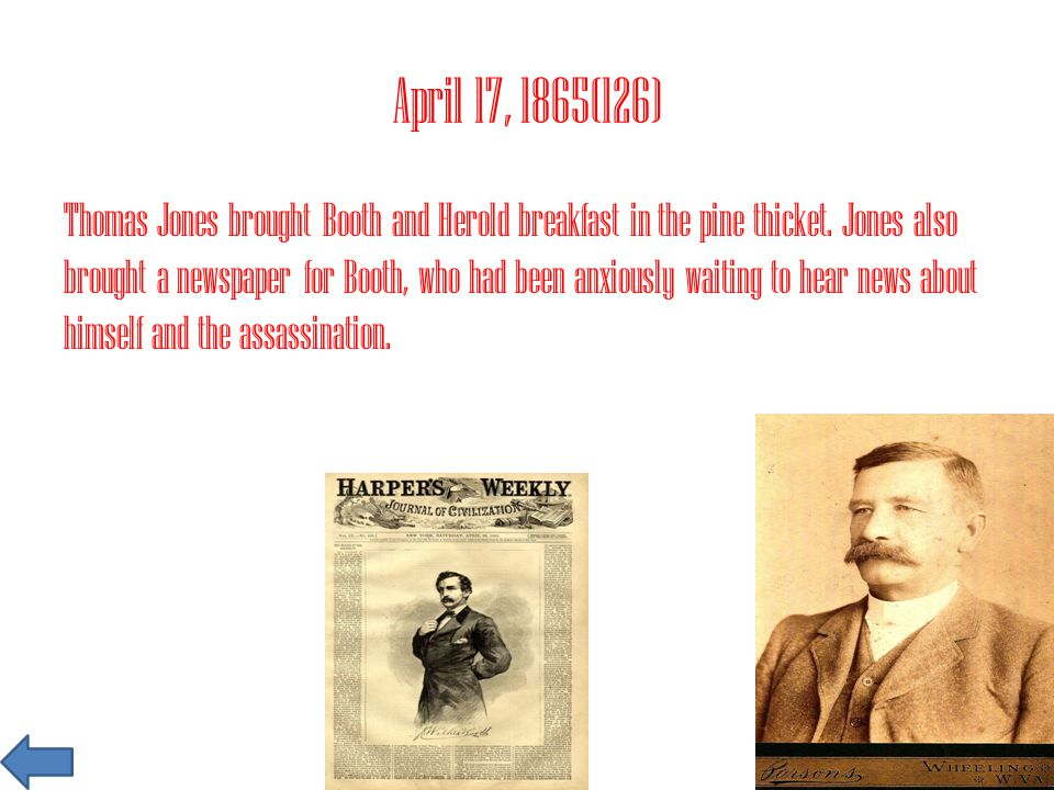 July 6, 1865(187) Mary Surrat, David Herold, George Atzerodt, and Lewis Powell would be hung tomorrow.