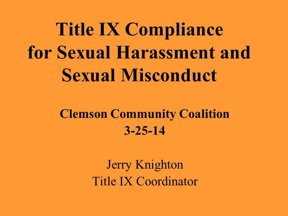 What will be covered Introductions/Objectives What is sexual harassment/sexual misconduct.