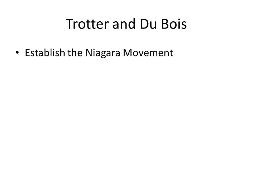 Trotter and Du Bois Establish the Niagara Movement