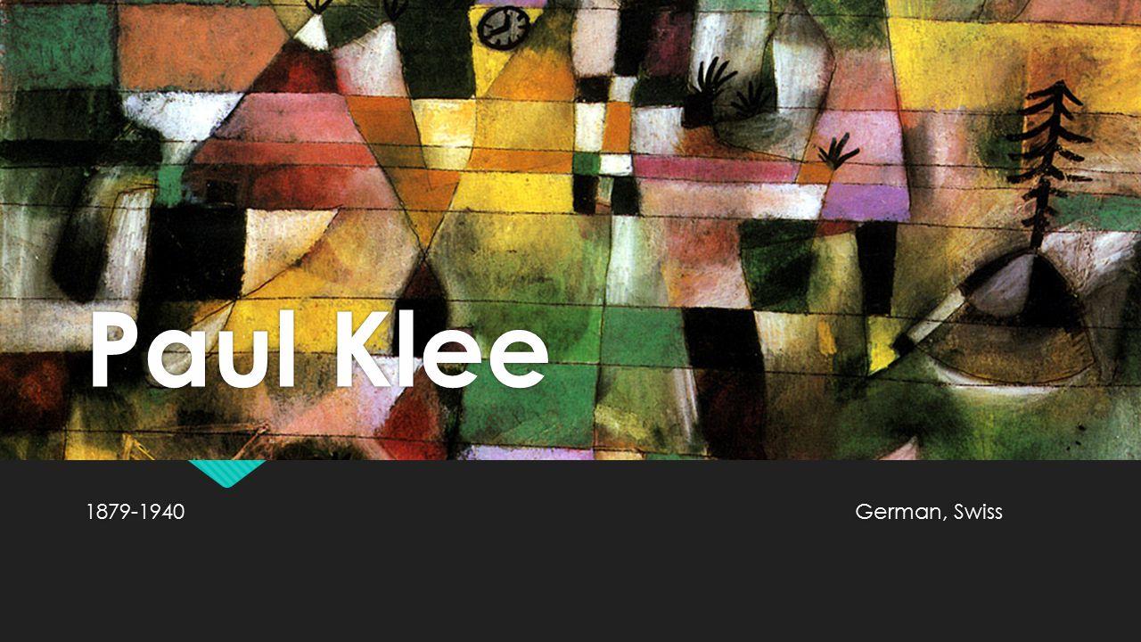 Paul Klee 1879-1940German, Swiss
