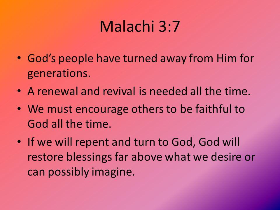 Malachi 3:8-9 We rob God when we fail to serve Him properly.